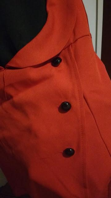 Recebidos Loja Dresslily blusa vermelha detalhes frontais