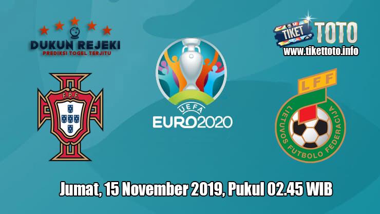 Prediksi Euro Qualification Portugal VS Lithuania 15 November 2019
