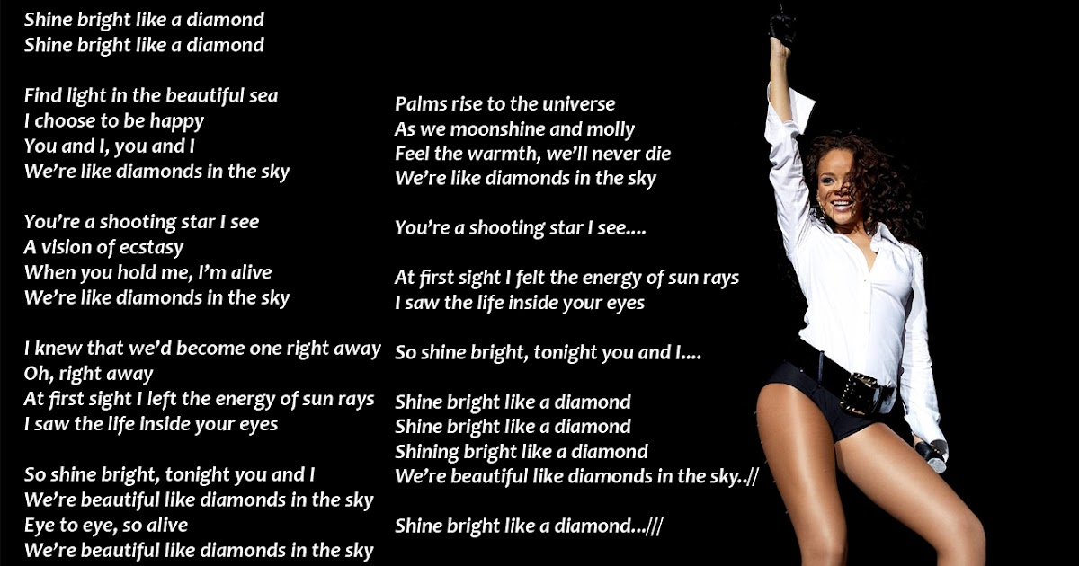 Fall Home Wallpaper Lyrics Wallpapers Rihanna Diamonds In The Sky