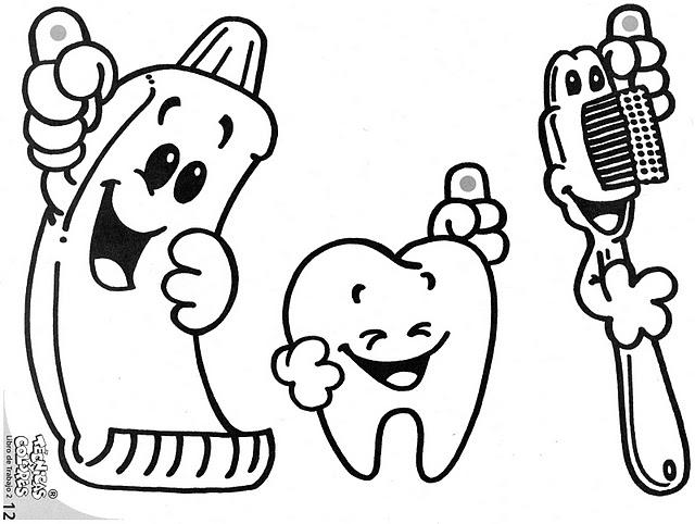 Dibujo Dientes Para Colorear E Imprimir: Actividades Escolares: Actividades Sobre Cuidado Bucal