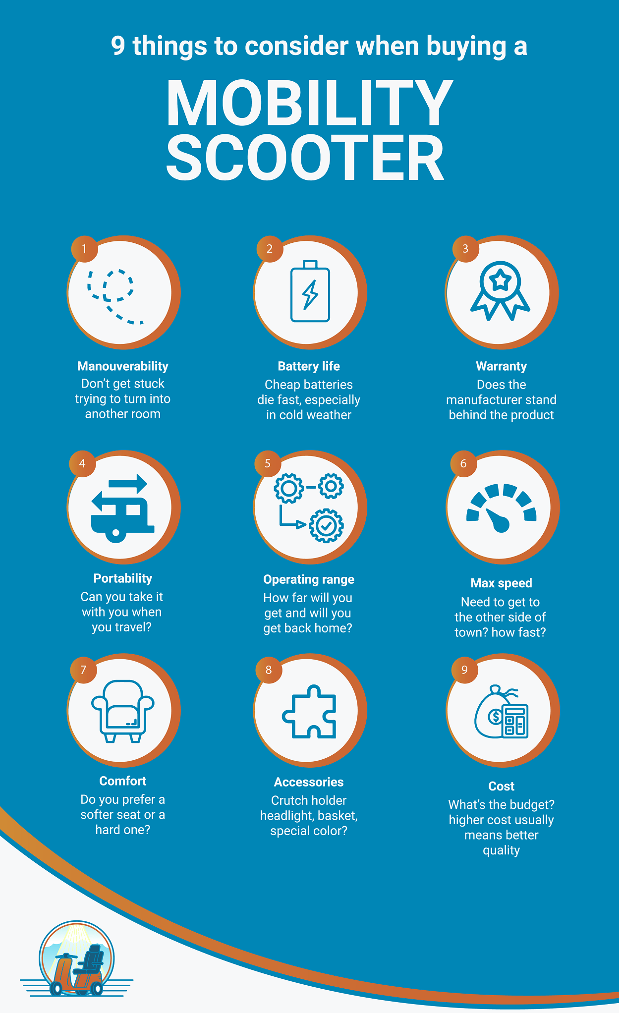 9 things to consider when buying a mobility scooter 2019 #infographic