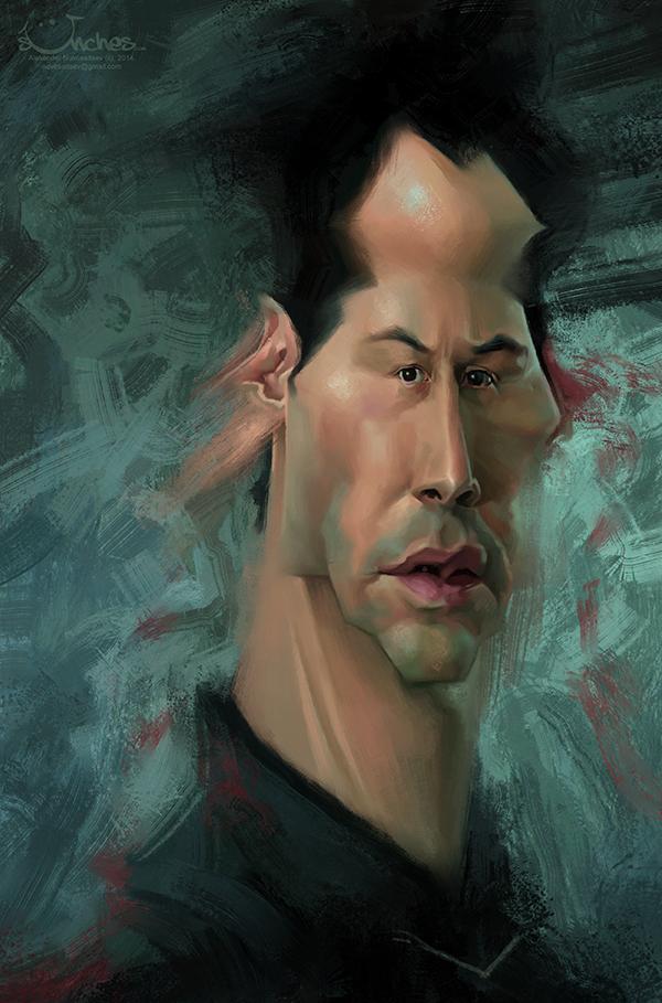 """Keanu Reeves"" por Alexander Novoseltev"