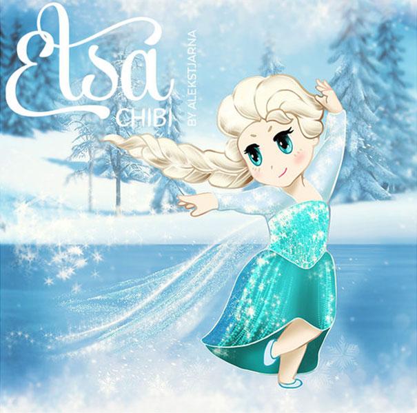 princess Elsa chibi công chúa nữ hoàng băng giá 8