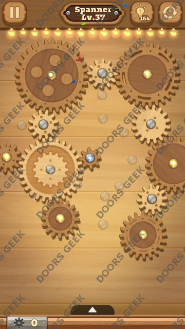 Fix it: Gear Puzzle [Spanner] Level 37 Solution, Cheats, Walkthrough for Android, iPhone, iPad and iPod