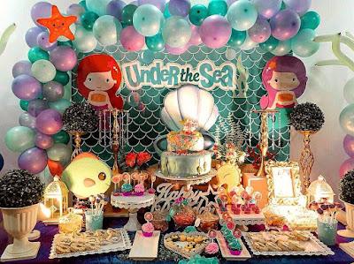 Under The Sea themed Dessert buffet