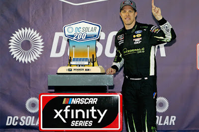 Brad Keselowski weathered a rain delayed race in the desert to win the DC Solar 200. #NASCAR