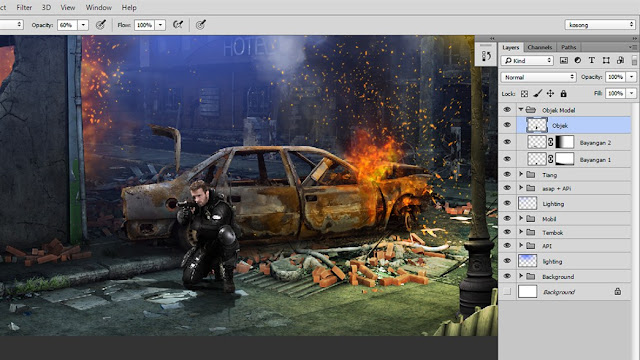 39 Tutorial Photoshop Dramatic Manipulation WAR part 2