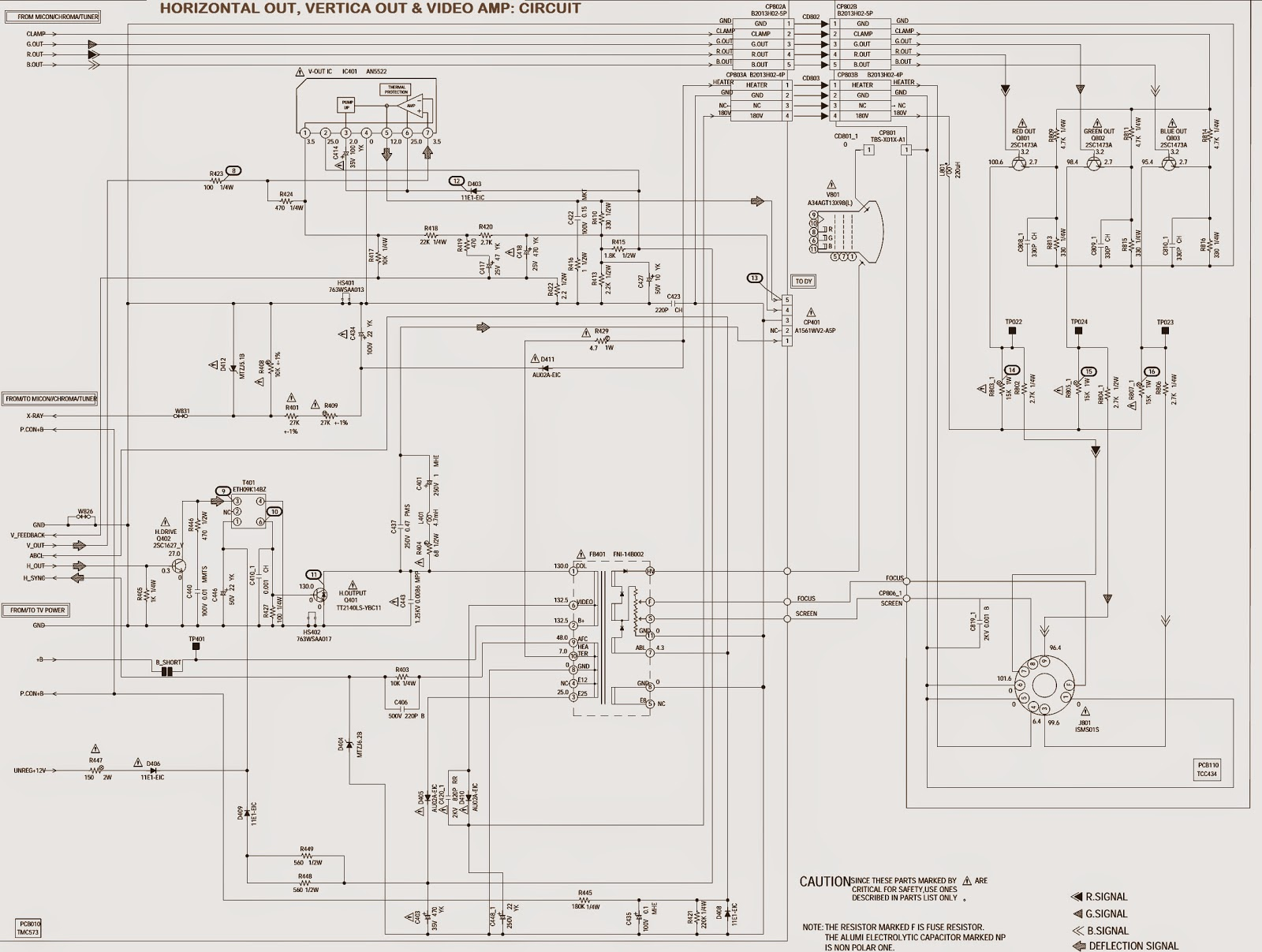 smps power supply horizontal output schematic circuit diagram