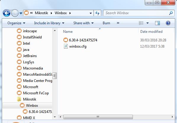 Temukan file Winbox.cfg