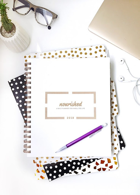 12 Days of Holiday Giveaways...Nourished Planner...the 2018 Nourished Planner is what EVERY person needs in their life to stay organized, on track and accountable. (sweetandsavoryfood.com)