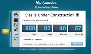 Wp Launcher Under Construction Blogger Template
