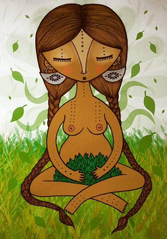 Resultado de imagen de imágenes de mujer tierra abrazando a mujer humana