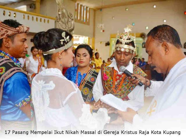 17 Pasang Mempelai Ikut Nikah Massal di Gereja Kristus Raja Kota Kupang
