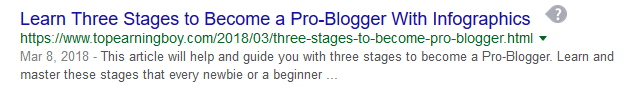 SEO Optimized Title Tag in Blogger