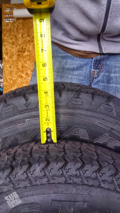 Larger trailer tires