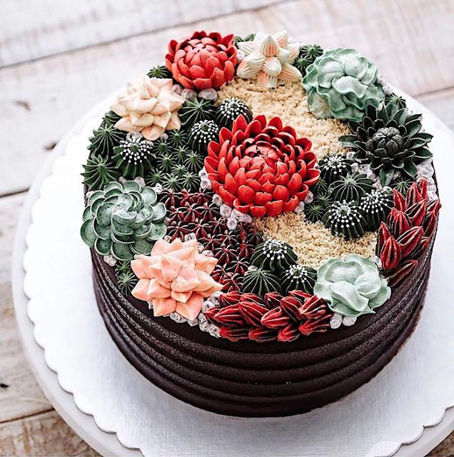 succulent cake design