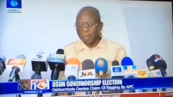 Shocking Video Surface Online As APC's National Chairman, Oshiomhole said Osun Election was rigged