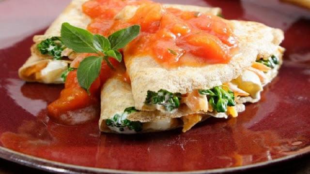 Receita de crepe integral de legumes (Imagem: Reprodução/Guia da Cozinha)