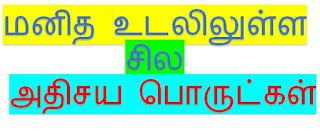அதிசயிக்க வைக்கும் அரிய செய்திகள், GK in tamil, Body Science in Tamil, மனித உடலில் உள்ள சில அதிசய பொருட்கள்