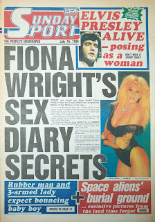 Front page of the Sunday Sport newspaper from 24 July 88