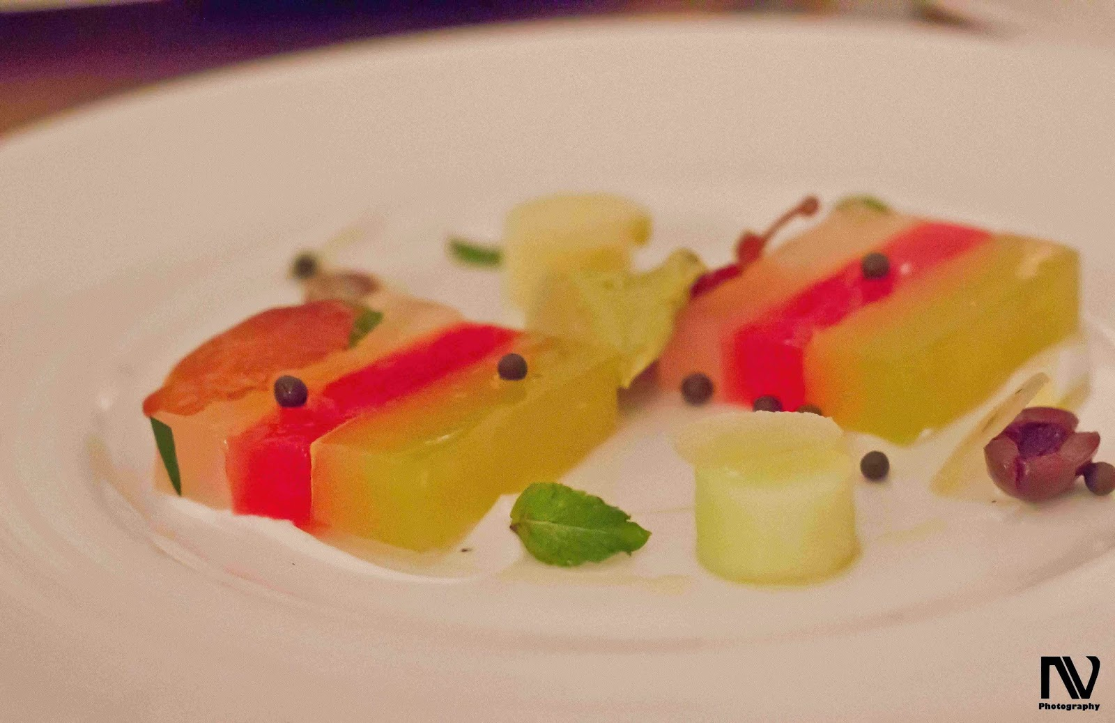 Compressed Melon Terrine with Parma Ham