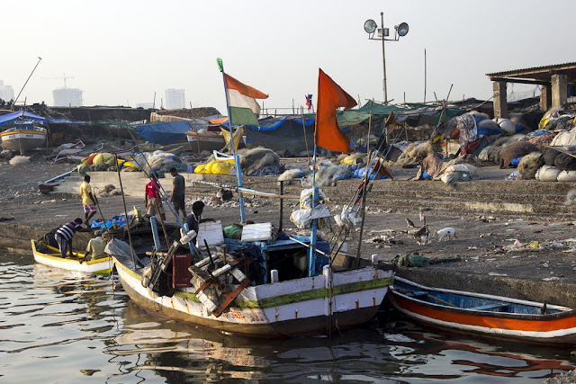 worli, jetty, koliwada, killa, fishing boats, arabian sea, mumbai, india, nets, flags, streetphoto, our world tuesday,