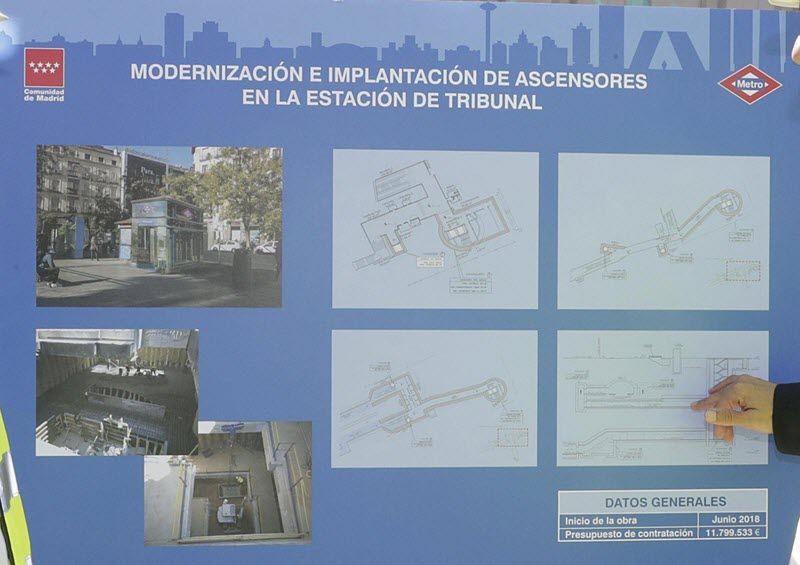 Nuevos Ascensores En La Estacion Tribunal De Metro Lista En