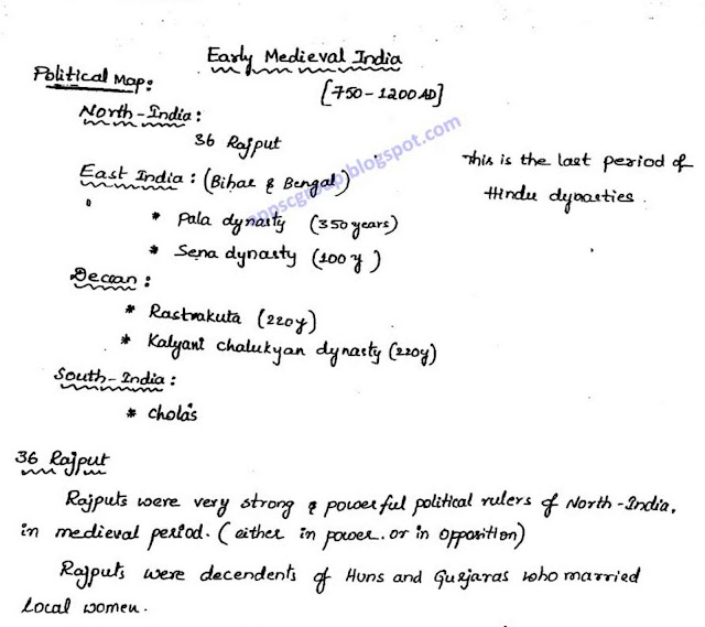 Medieval History Handwritten Class Notes