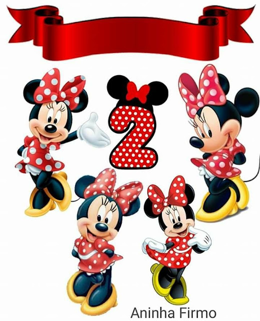 Minnie is 2! Free Printable Cake Toppers.