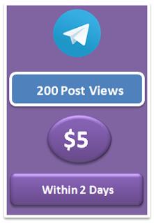 200 telegram post views