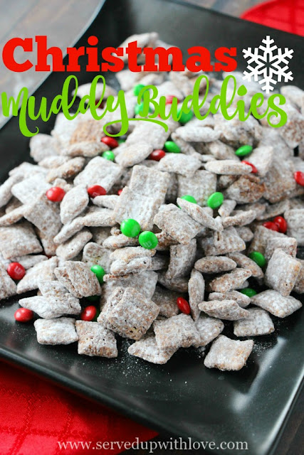 Christmas Muddy Buddies recipe from Served Up With Love