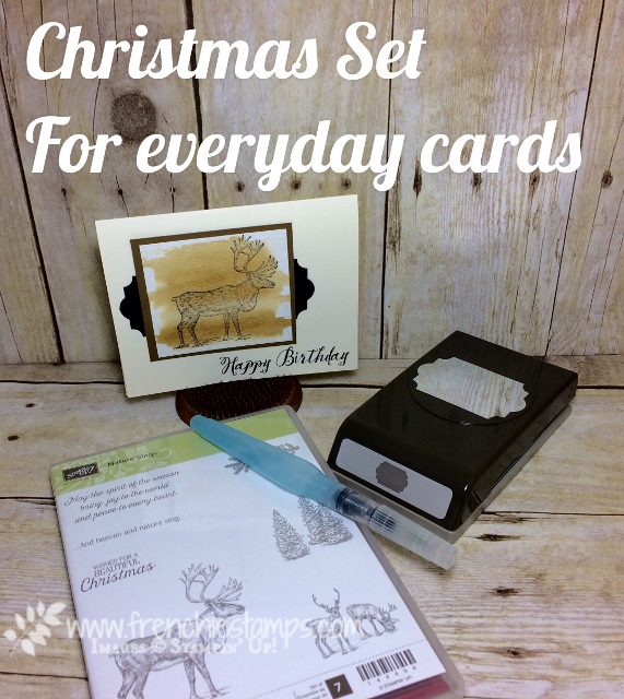 Masculine Card, Nature Sings, Feather Together, Stampin'Up!, Everyday Label Punch, Frenchiestamps