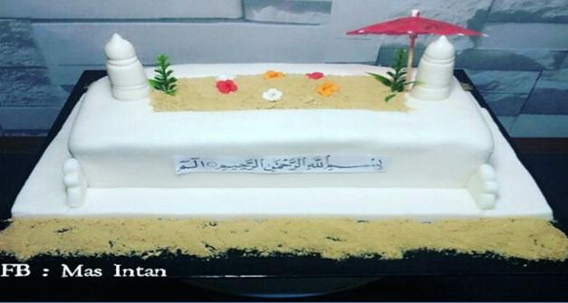 Pelanggan tempah kek pelik, ibu tunggal buat kek kubur