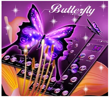 3D Neon Butterfly