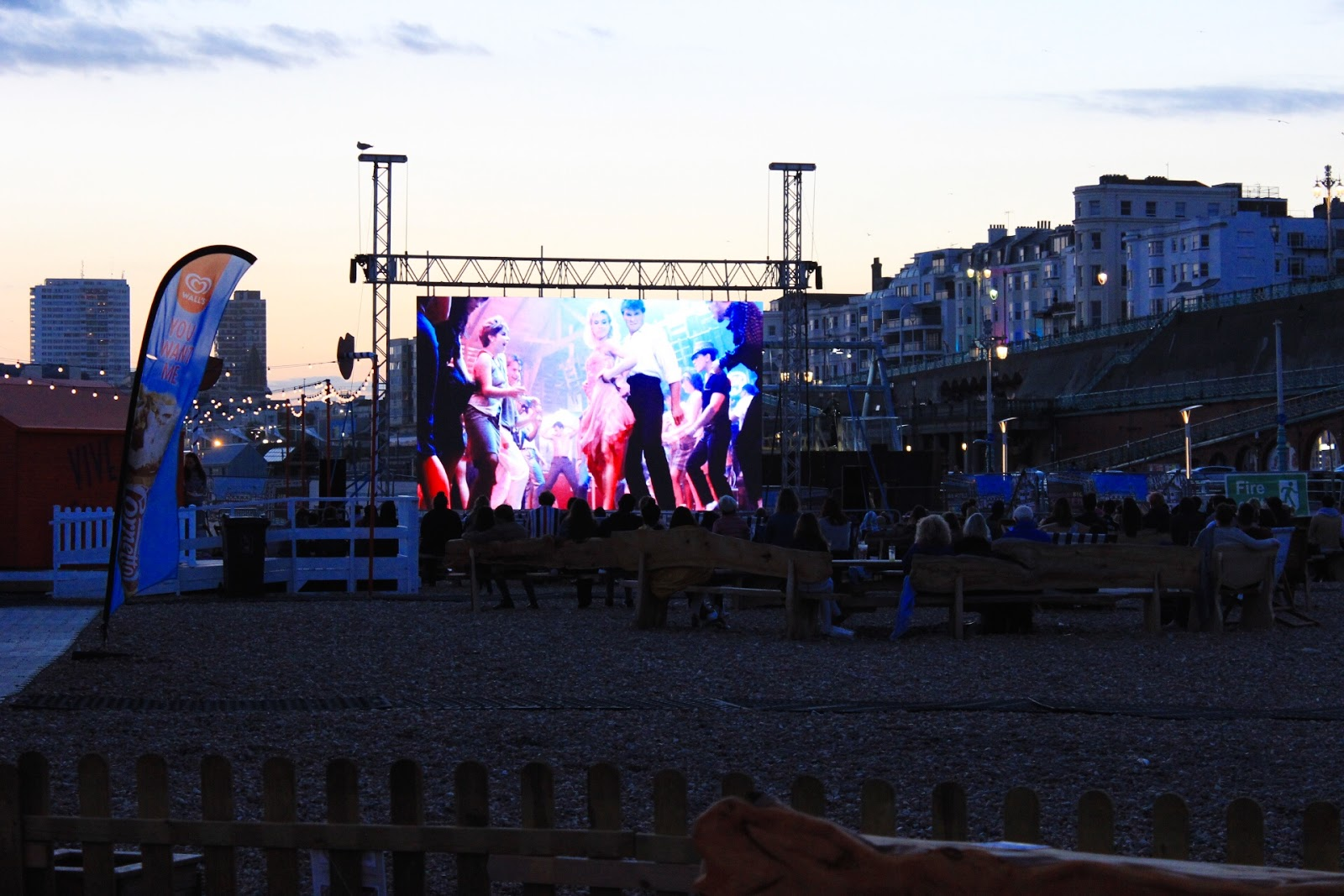 Brighton's Big Screen On The Beach Outdoor Cinema