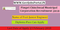 Pimpri Chinchwad Municipal Corporation Recruitment 2018– Junior Engineer