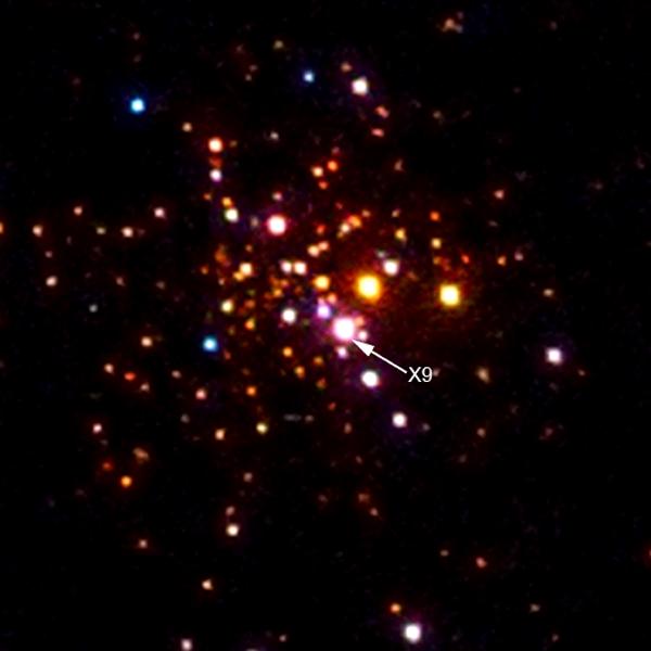 X9 - sistema composto por uma anã e branca e um buraco negro