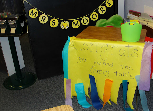 VIP table - behavior hack ideas for the classroom