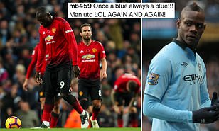 Balotelli Mocks Man United After Manchester City Defeat