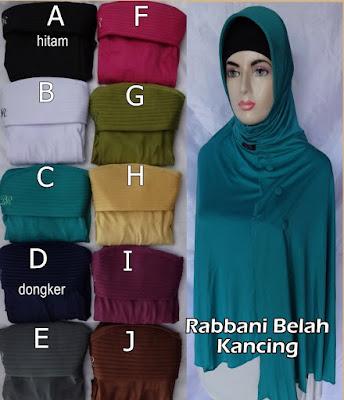 Grosir Jilbab Rabbani Belah Kancing