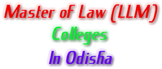 LLM colleges of odisha