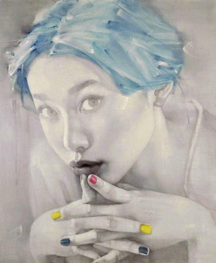 Современный китайский художник. Hong Liu