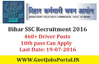 Staff Selection Commission Recruitment 2016 for 460+ Driver Apply Online Here