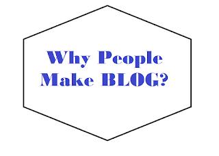 people make blogs