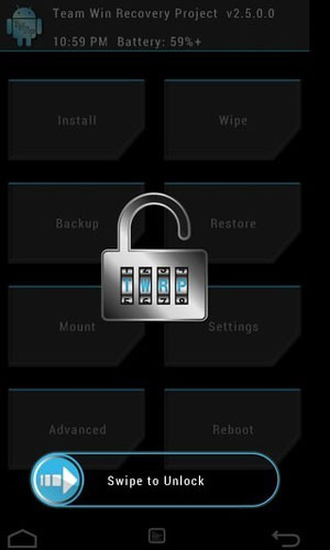 twrp recovery screen lock setting