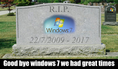 Microsoft Notifying users about End of Windows 7