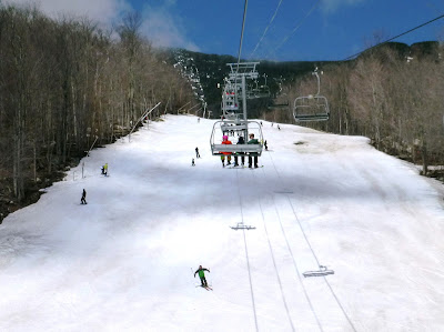 Skiing Whiteface on their latest closing date ever, Saturday May 5, 2018.  The Saratoga Skier and Hiker, first-hand accounts of adventures in the Adirondacks and beyond, and Gore Mountain ski blog.