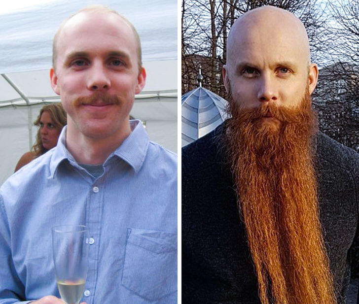 20 Photos Of Men Before And After They Grew A Beard