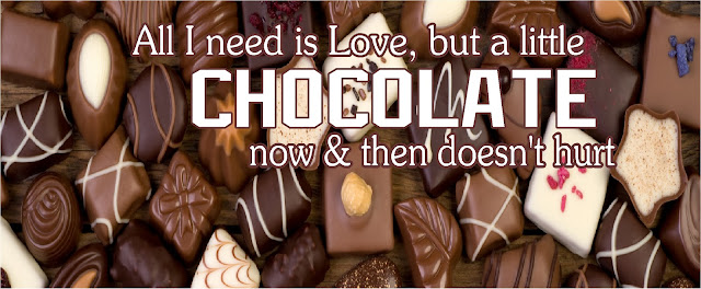 """All I Need is Love, but a little Chocolate now and then doesn't hurt"""