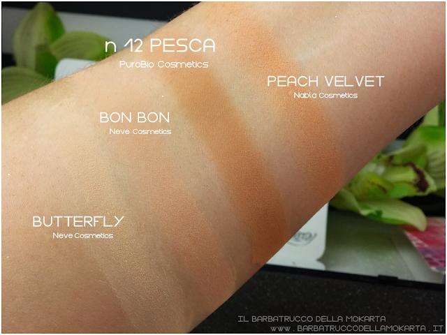 n 12 pesca comparazioni ombretto eyeshadow Purobio Cosmetics
